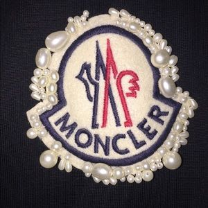 Jackets & Blazers - Moncler couture sweatshirt with pearl logo sz M/L